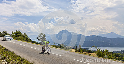 Tour de France Landscape Editorial Stock Image