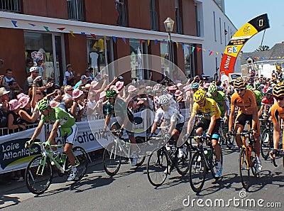 Tour de France Leaders Editorial Stock Photo