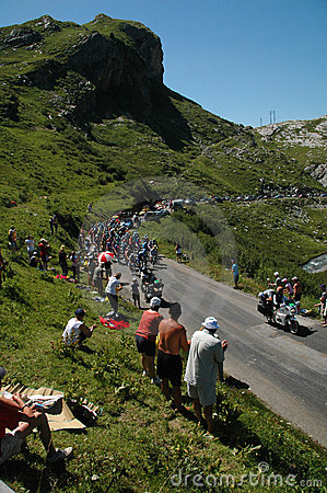 Free Tour De France Mountain Stage Royalty Free Stock Image - 2801856