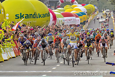 Tour de Pologne 2011 Editorial Stock Photo
