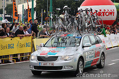 Tour de Pologne team vehicle Editorial Photography