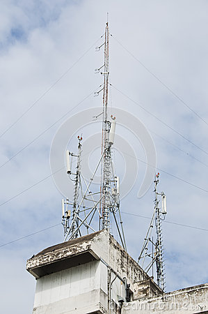 Tour de transmission par radio.