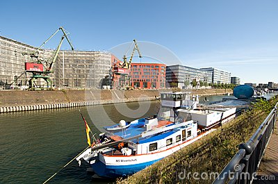 Tour der MS Wissenschaft  - exhibition ship in Duisburg Editorial Image