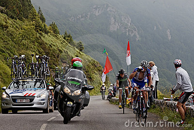 Tour of France actions Editorial Photo