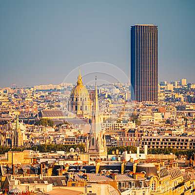 Tour Montparnasse and Les Invalides, Paris