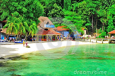 Tour to beautiful tropical island Editorial Image