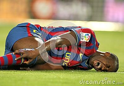 Toure Yaya injured Editorial Image