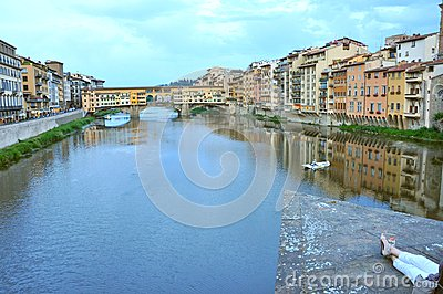 Tourism in the city of Florence , Italy Editorial Image