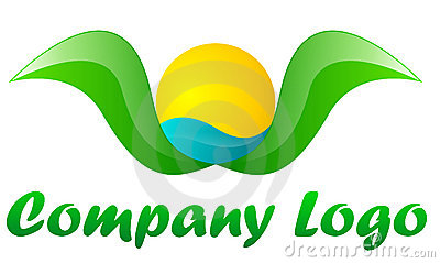 Tourism company green logo