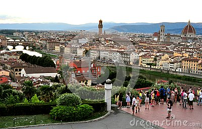 Tourism in Florence city, Italy Editorial Stock Image