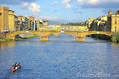 Tourists visiting Florence city  , Italy Editorial Stock Image