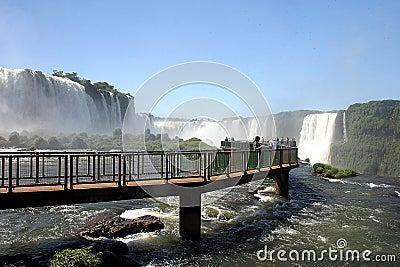 Tourism in iguassu falls, brazil Editorial Stock Image
