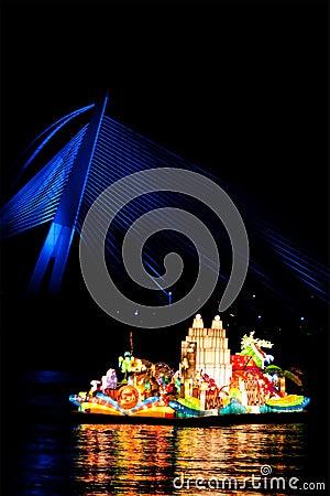 Tourism Malaysia Beautiful Floria Floats Editorial Stock Image