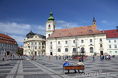 Tourism in Sibiu, Romania Editorial Photography