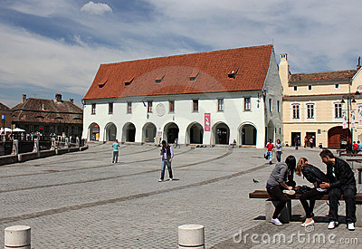 Tourism in Sibiu, Romania Editorial Stock Image