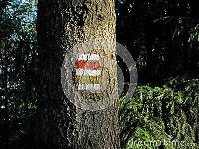 Tourism signs in Czech republic