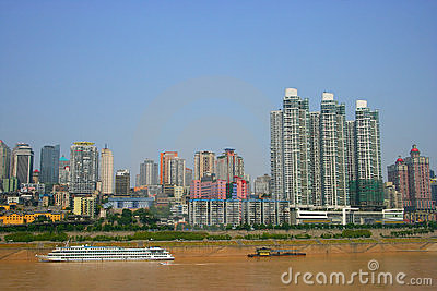 Tourism terminal side of the Yangtze River in Chon