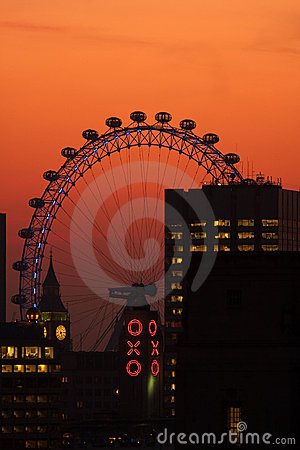 Tourist attractions in London, UK Editorial Stock Image