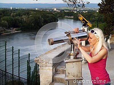 Tourist  in Avignon, France