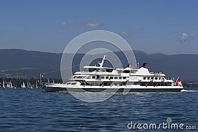 Tourist boat on Lac Leman