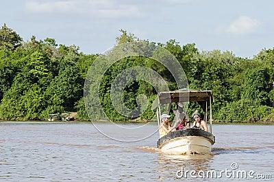 Tourist boat Rufiji river Editorial Photography