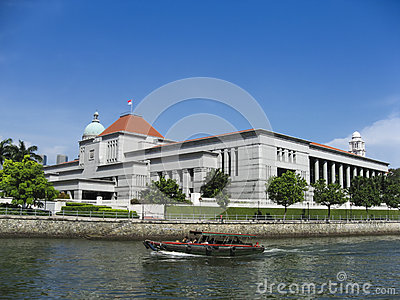 Singapore law courts government buildings Editorial Image