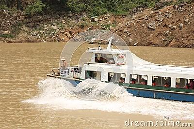 Tourist boat on Yangtze river Editorial Photo
