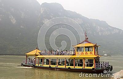Tourist  boat in Yangtze river Editorial Stock Photo