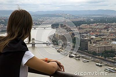 Tourist in budapest