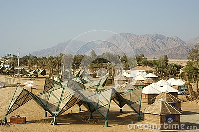 Tourist bungalows in Sinai.