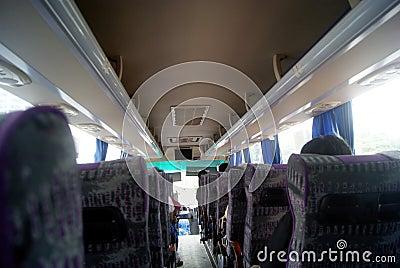 Tourist bus car landscape Editorial Stock Image