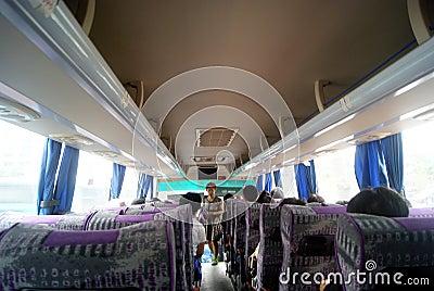 Tourist bus car landscape Editorial Image