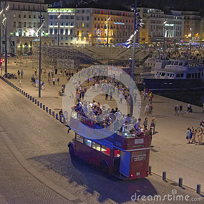 Free Tourist Bus In Marseilles Stock Photos - 39120093