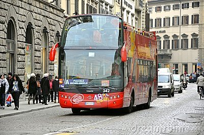 Tourist bus in Italy Editorial Photography
