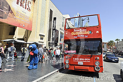 Tourist bus tour Editorial Stock Image
