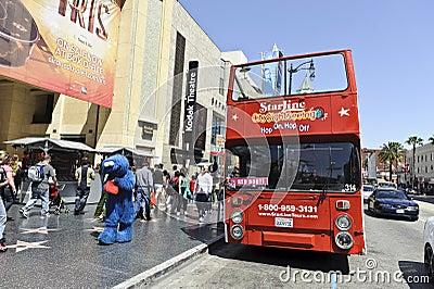 Tourist bus tour Editorial Stock Image