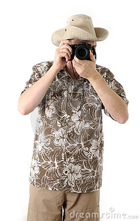 A tourist with camera