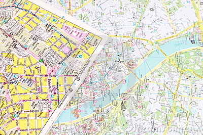 Tourist city map
