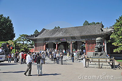 tourist in East Palace Gate of Summer palace. Editorial Stock Photo