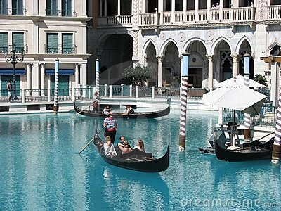 Tourist enjoying at Venetian Hotel in Las Vegas Editorial Stock Photo