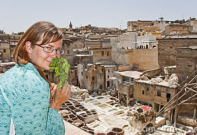 Tourist in Fes (Morocco)