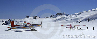 Tourist Flights - Mount Cook - New Zealand Editorial Photography