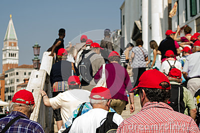 Tourist Group in Venice Editorial Image