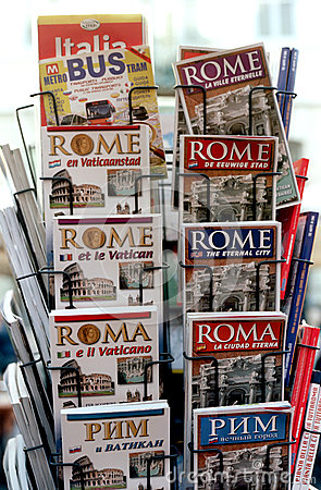 Tourist guides of Rome Editorial Stock Photo
