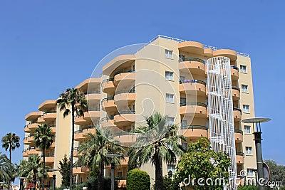 Tourist hotel on island on Majorca