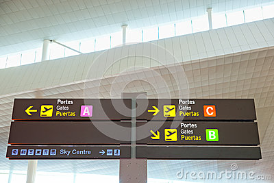 Tourist info signage in airport
