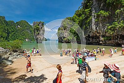 Tourist on James Bond Island Editorial Stock Image