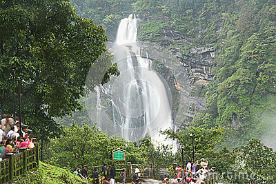 Tourist Near Jog Falls Editorial Image