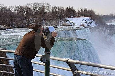 Tourist in Niagara Falls