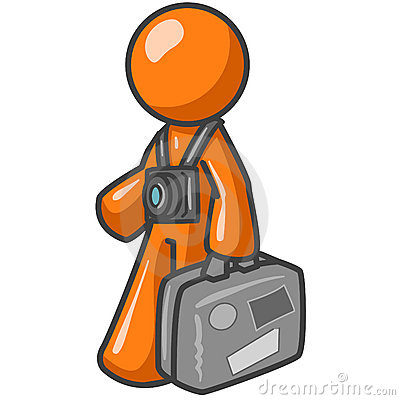 Tourist - Orange Man Cartoon Royalty Free Stock Images ...